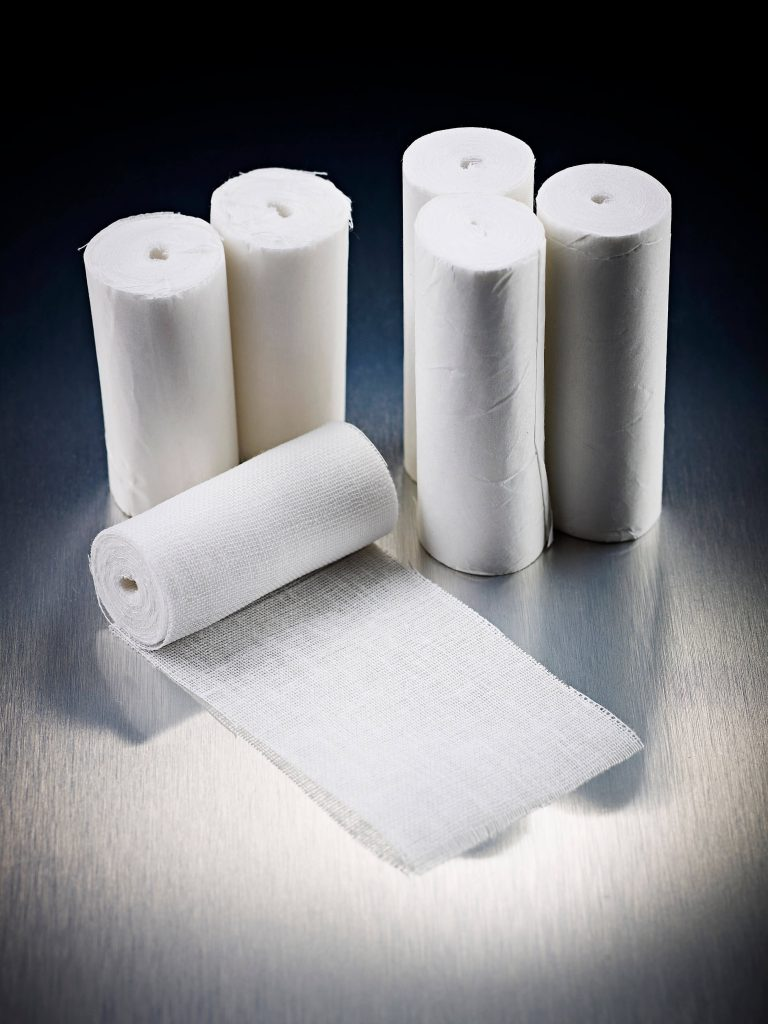 High Performance White Open Weave Bandage Flowstrip